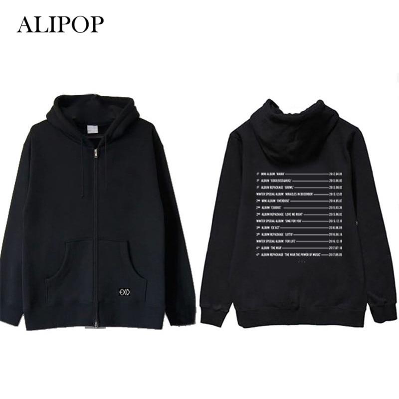 Hoodies & Sweatshirts Ongseong Kpop Exo The War 4th Album Hoodie Hip Hop Casual Cotton Hoodies With Hat Pullover Printed Long Sleeve Sweatshirts Wy519