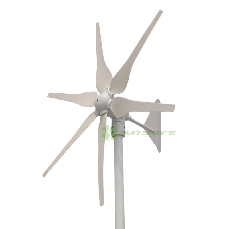 Free shipping 2017 hot selling 6blades 300w windmill generator with 3phase magnetic small wind turbine AC12v/24v free shipping 600w wind grid tie inverter with lcd data for 12v 24v ac wind turbine 90 260vac no need controller and battery
