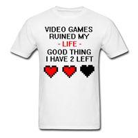 Video Giochi Rovinato La Mia Vita Divertente Preventivo T-Shirt da Uomo Casual Manica Corta Maglietta di Modo Della Novità Logo Stampa T Shirt
