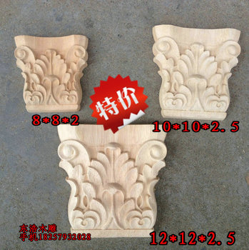 Dongyang wood carving wood sculpture wood column fashion frame decoration corbel roman column head