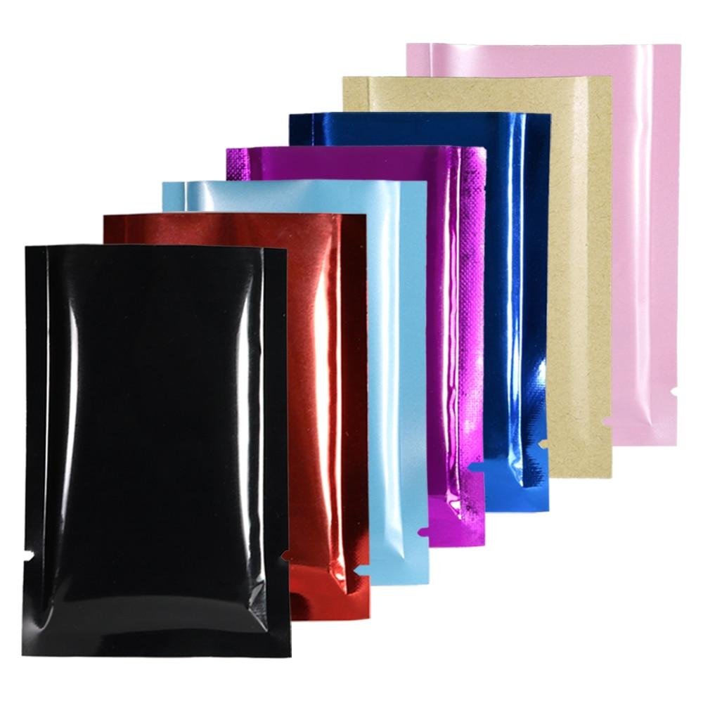 Пакеты для упаковки из перерабатываемой фольги разных размеров, плоские карманные пластиковые пакеты для упаковки, пакеты-конверты 100 шт./л...