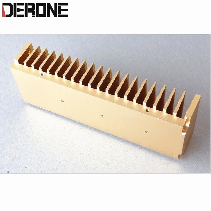 1 piece power amplifier radiator aluminum heat sink 200mmx40mmx68mm 0.6kg for audio diy hood 1969 LM3886