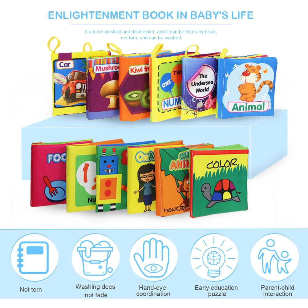 لينة القماش الكتب حفيف الصوت الرضع طفل هادئ الكتب التعليمية عربة حشرجة اللعب للطفل حديث الولادة 0-12 شهر