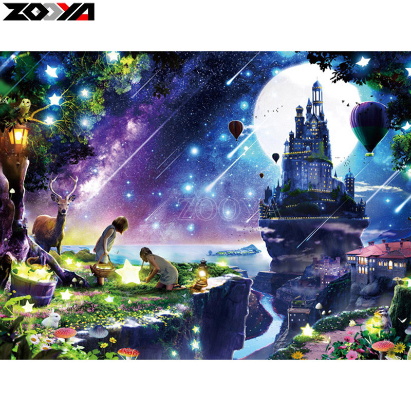 ZOOYA Full square/Round drill Diamond embroidery Meteor shower 5D DIY diamond Painting Cross Stitch Rhinestone Mosaic E09