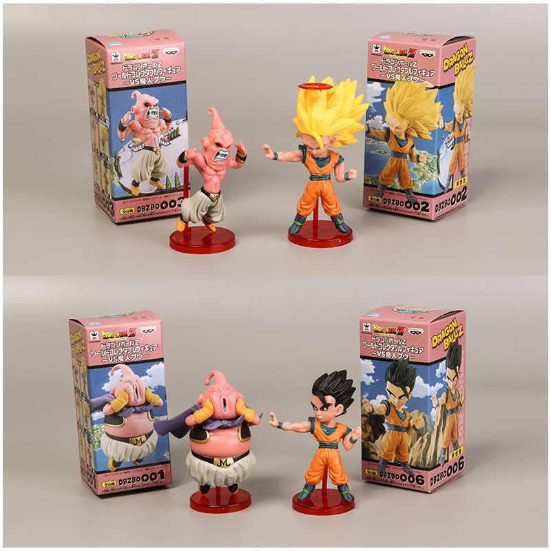 6 pcs Dragon Ball Z Majin Boo 6 Stile Mini Modelo Goku Saiyan Bola Dragão Z Figura Meninos Brinquedo PVC modelo Anime Coleção Brinquedo do Miúdo