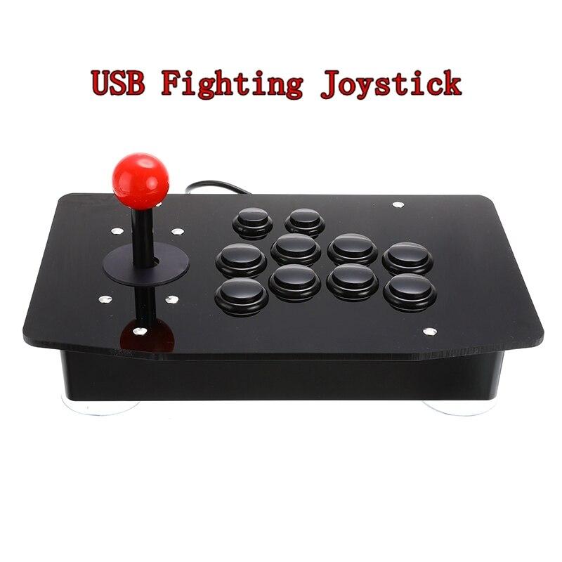 Joystick de Arcade Fighting Stick USB Gamepad Controlador de Jogos de Vídeo Game Para PC Computadores Desktop