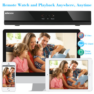 Image 3 - Видеорегистратор KKmoon 4CH AHD DVR H.264 HDMI1080P P2P Onvif, 4 канала, AHD NVR, цифровой видеорегистратор для системы видеонаблюдения