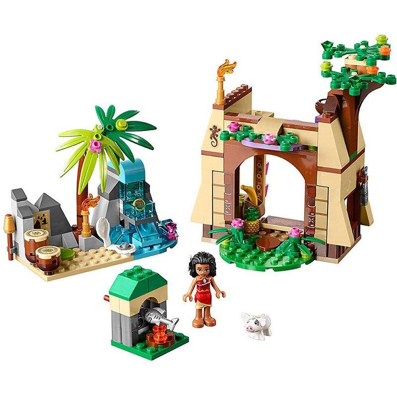 Бела 10662 зимние приключения Моана остров приключений Building Block кирпичи 206 шт. кирпичи игрушки Совместимость с Legoings 41149