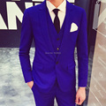2016 Royal Blue Tuxedo New Arrival Lastest Coat Pant Wine Red Black Designs Costume Mariage Homme Wedding Suits for Men