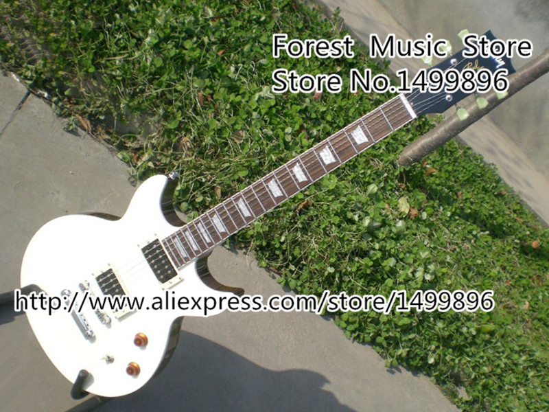 Top Selling 22 Frets LP Standard Model Electric Guitar With Double Cutaway White Guitar Body Free Shipping electric guitar free shipping 2017 guitarra wholesale new gib standard slash oem lp guitar with p90 pickups guitar in china
