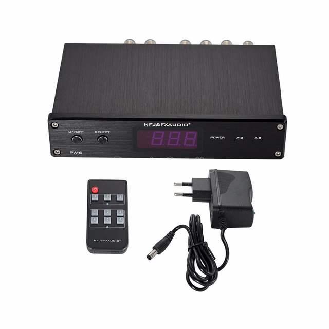 2018 Latest Nobsound FX-AUDIO PW-6 Audio Switcher Spiltter Selector  Crossover 2-Way Speaker Amplifier Comparator