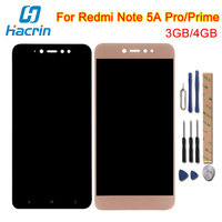 Hacrin For Xiaomi Redmi Note 5A Prime Lcd Display Touch Screen Digitizer Screen Glass Panel For