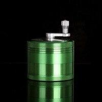 Диаметр 63 мм 4 слоя измельчитель специй из алюминя Травяные специи ручной Кривошип машинка для дробления и измельчения табака сорняков точи...