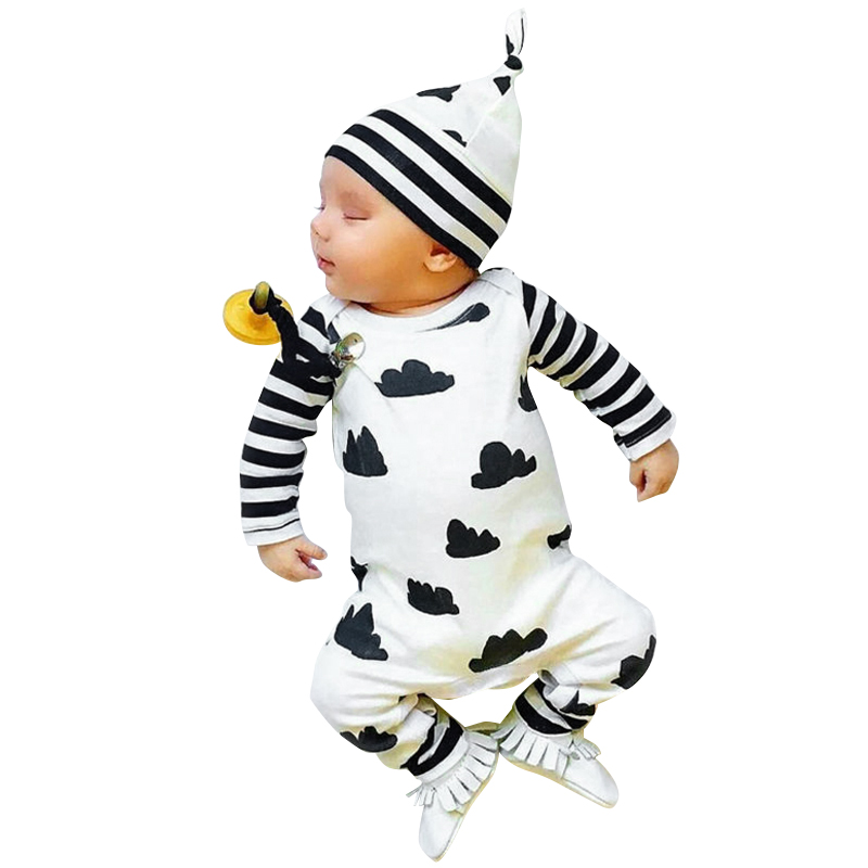 Toddler Baby Girl Boy Clothes Long Sleeve Romper Jumpsuit Outfits , 3-18 Months