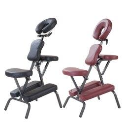 Silla de masaje con almohadilla de cuero portátil moderna con bolsa de transporte gratuita muebles de salón masaje de tatuaje ajustable Silla de Spa Dental venta