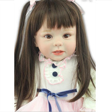 цены Free Shipping 70cm big handmade hot sale lifelike reborn toddler baby fashion doll Christmas gift real touch reborn girl doll