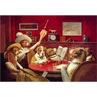 Handmade Oil paintings Dogs Playing Poker by Cassius Marcellus Coolidge canvas Sitting Up with a Sick Friend modern arts