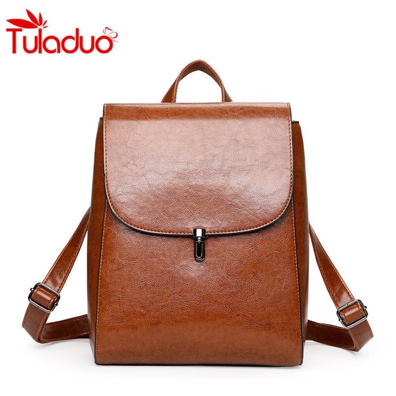 Tuoladuo марка высокое качество кожи женщин рюкзак старинные рюкзак для девочек-подростков случайные сумки женские сумки на ремне школьный