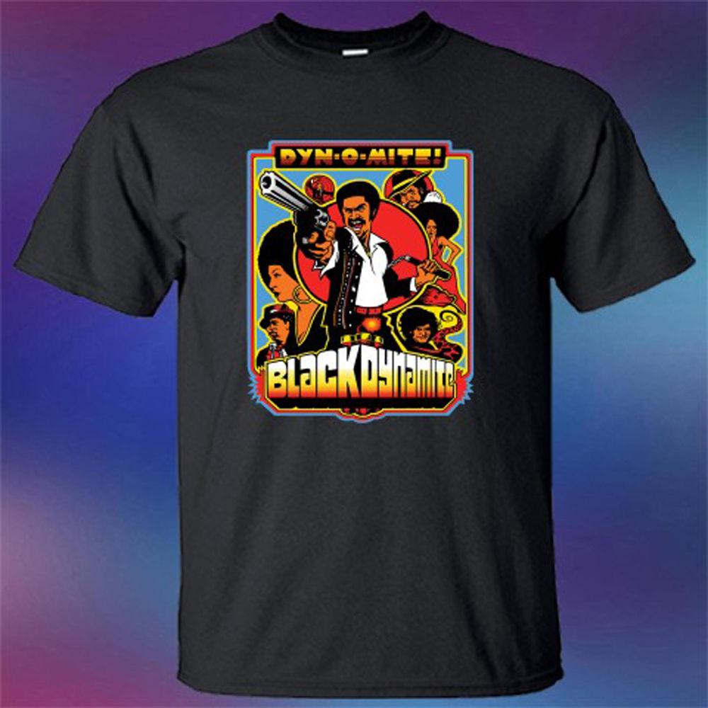 New Black Dynamite Famous Cartoon TV Series Mens Black T-Shirt Size S-3XL