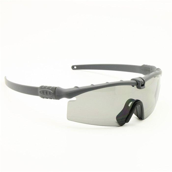 Polarisé armée lunettes de soleil lunettes militaires balistiques hommes cadre 3/4 Lens combat guerre jeu auto (camouflage 4 lentilles) PuDuIEPH