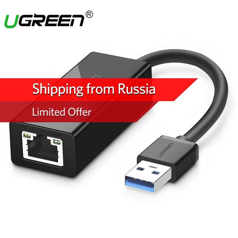 Ugreen USB 3.0 Ethernet-адаптер для сяо Mi коробка 3 Android ТВ Nintend переключатель USB к RJ45 локальной сети карты USB Ethernet