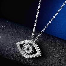 Fashion Micro Pave AAA+ CZ Charms Evil Eyes Necklace for Women Silver Pendant Ladies Gifts New Arrivals Dropshipping