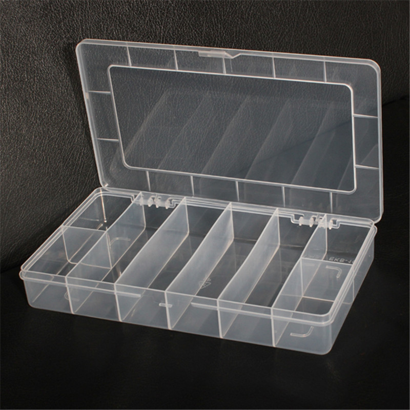 8 Grids Large Sundries Assort Collect Bin Box Components Organizer Storage Plastic Box Collection Boxes For Jewelry Container