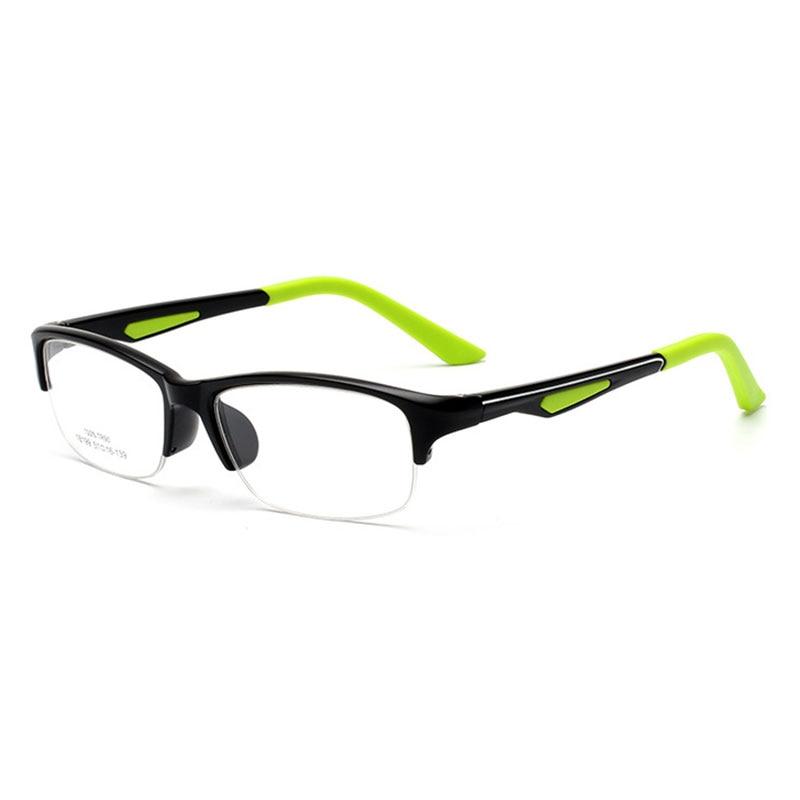 Ojo óptico glassses prescripción gafas con estilo 18199 semi rimless ...