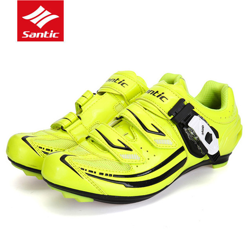 Santic Road Cycling Shoes Bike Women Green Bicycle Shoes Cycling Lock men's Cycling Sports Racing Lock Shoes scoyco motorcycle riding knee protector extreme sports knee pads bycle cycling bike racing tactal skate protective ear