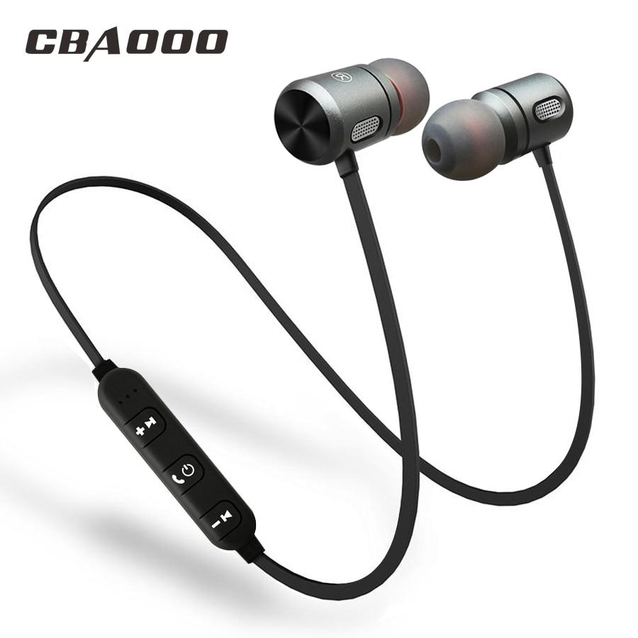CBAOOO Bluetooth беспроводные наушники bluetooth-гарнитура спортивные вкладыши магнитные Беспроводные наушники с микрофоном для мобильного телефона