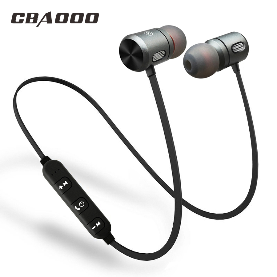 CBAOOO Bluetooth Wireless Earphone Bluetooth headset Sports In Ear Magnetic Wireless Earbuds Earpiece With Mic For Mobile Phone askmeer bluetooth earphone ipx5 waterproof metal magnetic wireless sport earbuds headset in ear earpiece with mic handfree calls