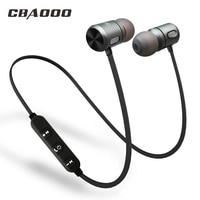 Cbaooo bluetooth fone de ouvido sem fio bluetooth esportes no ouvido magnético sem fio fones com microfone para o telefone móvel|sports in ear|headset sport|bluetooth headset sport -