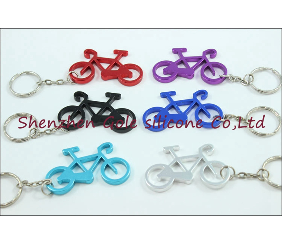 500pcs/lot Cheapest Whosesale Aluminum Sport Bike Shaped Bottle Opener Keychains,bicycle Beer Opener Ring.promotion Gift