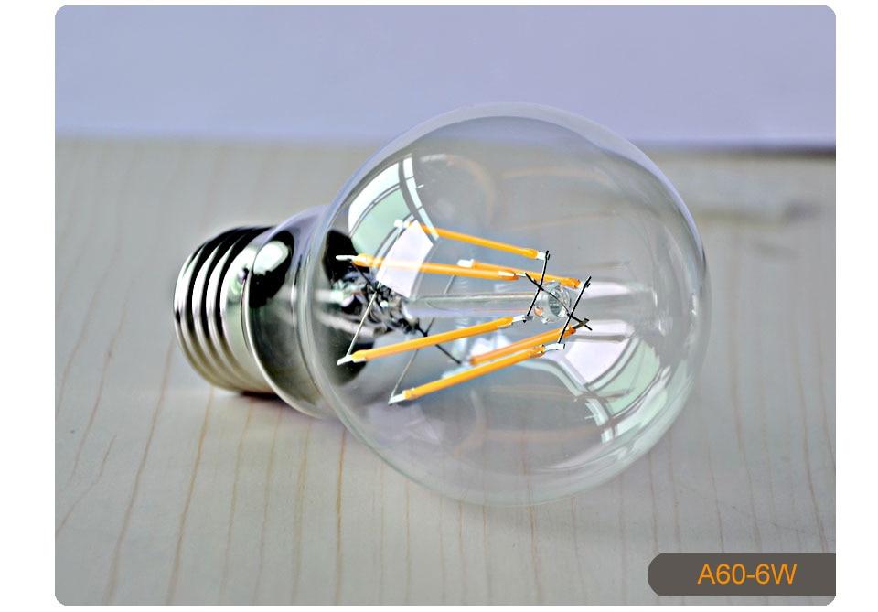 Dimmable Antique Retro Edison Incandescent LED lamp 110V E27 2W 4W 6W (13)