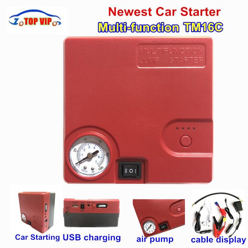 TM16C nouveau plus grand Portable 12 V voiture batterie saut démarreur Auto Jumper moteur batterie externe dispositif de démarrage voiture démarrage pompe à Air