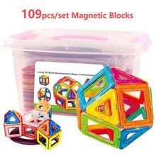 Magnetic Blocks Toys Modeling-Construction-Toys Children 3D for Gifts 109pcs