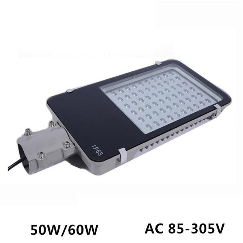 40W 50W 60W 100W 120W LED street light AC85-305V 120-130LM/W IP65 Industrial Lamp for Outdoor Garden Yard