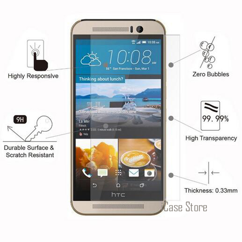 2.5D 9H Screen Protector Tempered Glass For <font><b>HTC</b></font> <font><b>Desire</b></font> 516 510 526 610 616 <font><b>816</b></font> 820 826 E8 E9 EYE M7 M8 Mini M9 plus One max <font><b>case</b></font> image