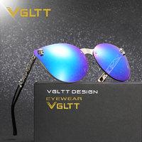 VGLTT Cat Eye Women Men Gothic Sunglasses Lady Fashion Brand Desinger Mirror Cateye Rose Gold Sun