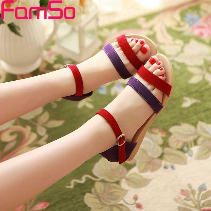Plus Size34-43 2017 New Shoes Women Sandals Slides platforms Office Flip Flop  Sandals Summer Female Casual Flats Sandals  FS383