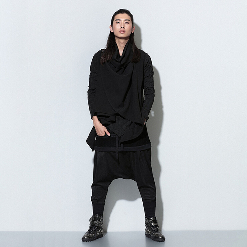 Aliexpress.com  Buy PUNKOOL 2016 Harem Pants Men Hip Hop Saruel Swag Harem  Sarouel Fashion Loose Pantalon Male Low Drop Crotch Biker Joggers Pants  from
