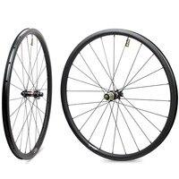 CycloCross Carbon Wheelsets 25mm Width 38mm Depth Tubular Rim With Novatec D411 D412 Hub Disc Brake & Pillar 1423 Aero Spoke