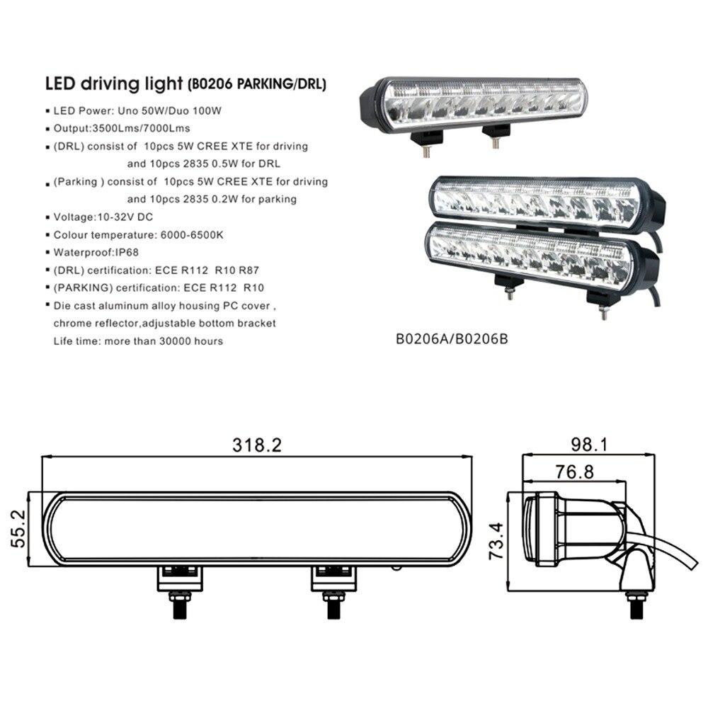 Image 2 - 12 Inch 50W Led Bar Driving Lights For Lada Niva 4x4 Off road Trucks Trailer Boat SUV UTV ATV 4WD Waterproof 12V 24V Flood Light-in Light Bar/Work Light from Automobiles & Motorcycles