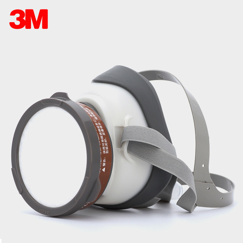 3M 1201 Half Face Dust Mask Respirator Against Organic Gas Mask Steam Filtration Spray Paint Chemical Pesticide Respirator Masks 11 in 1 suit 3m 6200 half face mask with 2091 industry paint spray work respirator mask anti dust respirator fliters