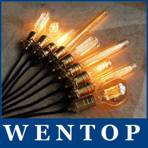 Antique Retro Vintage 40W 220V Edison Light Bulb E27 Incandescent Bulbs ST64 G80 Squirrel-cage Filament Lamp - ShenZhen WENTOP Technology Co., Ltd. store