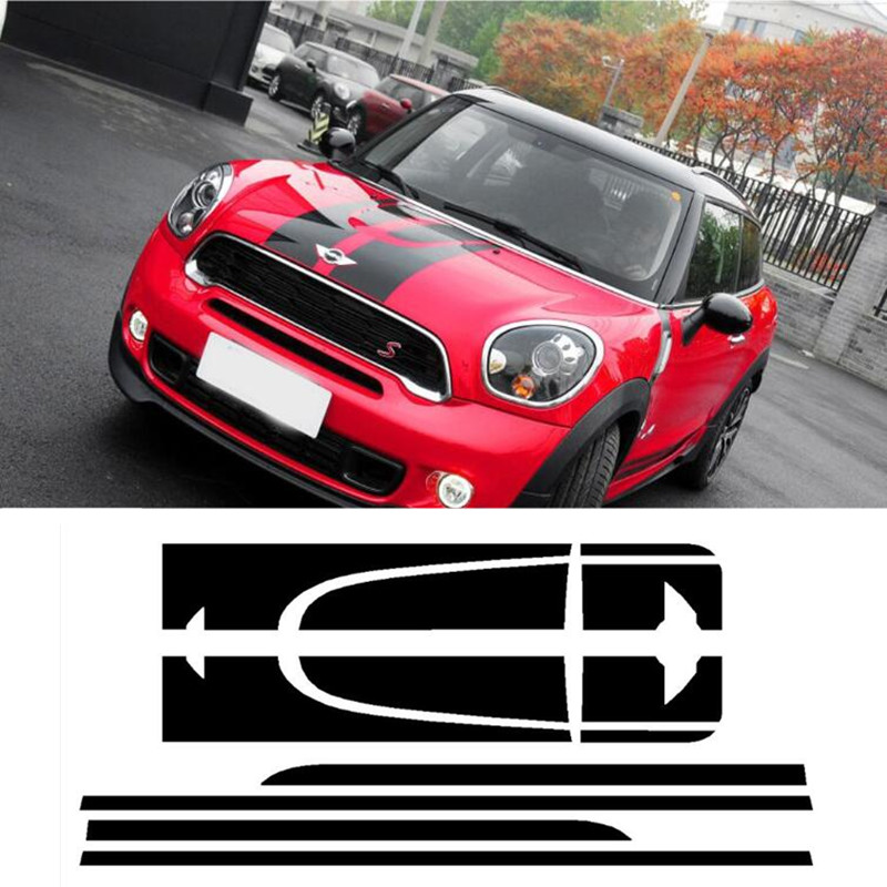 Hood Rear Engine Trunk Side Body Car Sticker Decal Kit Cover for Mini John Cooper Works Paceman R61 JCW Car Styling Accessories