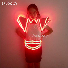 2019 New igh quality LED luminous shoulder bar nightclub DJ stage performance fluorescent belt birthday party props