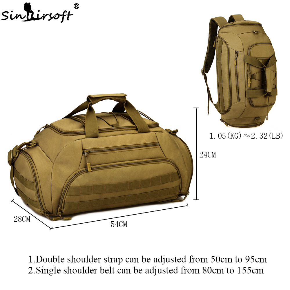 SINAIRSOFT 35L Nylon Tactical Backpack Waterproof 14 Inch laptop Military Package Outdoor Sport Camping Hiking Camera Bag LY2030-in Climbing Bags from Sports & Entertainment    3