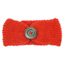 New Baby Knit Crochet Top Knot Elastic Headband Baby Girls Head wrap Hair Bands Ears Warmer Baby Headband Phtography Props 1N6(China)