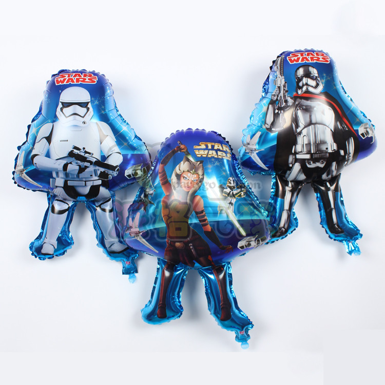 50pcs/lot Hero theme party decoration supplier Hot character star wars shape foi